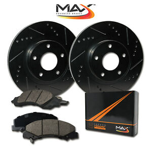 rear Rotors W ceramic Pads Elite Brakes 1994 2004 Mustang Svt Cobra