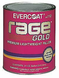 Fibreglass Evercoat 112 Rage Gold Premium Lightweight Body Filler 1 Gal