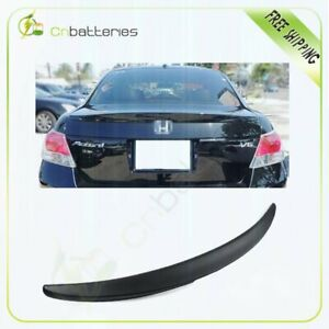 Trunk Spoiler Wing Fits For 2008 2012 Honda Accord 4dr Sedan Unpainted Black
