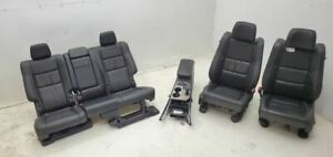 2014 Jeep Grand Cherokee Oem Leather Seats Front Rear Seat Set W Console