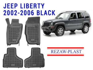 All Weather Rubber Floor Mats Set For Jeep Liberty 2002 2006 3d Black Custom Fit