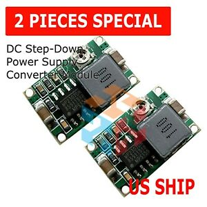 2pcs Mini360 3a Dc Voltage Step Down Power Converter Buck Module 3 3v 5v 9v 12v