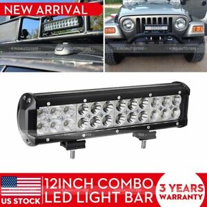 12inch Cree Led Light Bar Driving Work Super Bright Spot Flood Combo Offroad 4x4