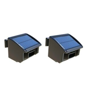 2pcs Abs Solar Powered Driveway Alarm System Windproof Alert Motion Detector