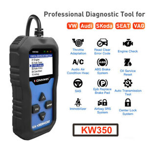 Kw350 Obd2 Diagnostic Scanner For Car Vag Vw Audi Abs Airbag Reset Oil Service