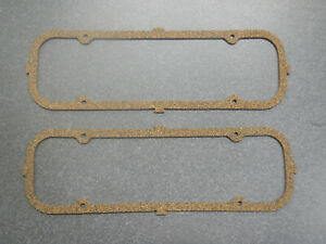198 225 V6 Buick Engine Valve Covers Gaskets Pair 62 63 64 65 66 67 New Cork