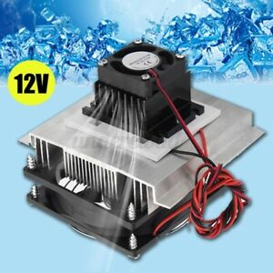 Tec 12706 Thermoelectric Peltier Refrigeration Cooling System Kit Cooler Fan Us
