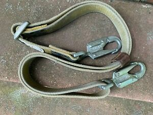 Used Lineman Positioning Pole Climbing Safety Strap Lanyard 1 3 4 X 5