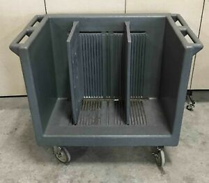 Cambro Adjustable Tray Cart Dolly Holder Caddy Rack Stack Food Divider