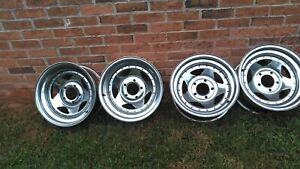 Set Of 4 Chrome15x7 5 X 4 75 Mag Wheels Chevy Chevrolet Blazer Rims