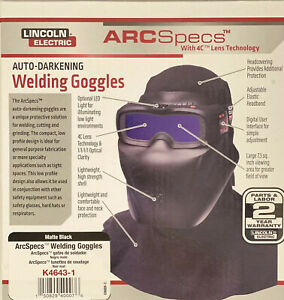 Lincoln Electric K4643 1 Arcspecs Weld Mask Auto Darkening Goggles Ship Free