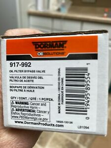 Engine Oil Filter Bypass Valve Dorman Oe Solutions 917 992