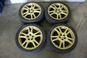 Jdm Version 7 Sti Wheels 5x100 Impreza Gda Hdb 17x7 5 53 02 07 Ej20 2372