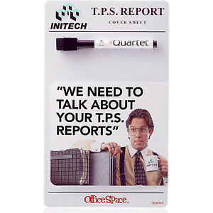 Quartet Dry Erase Board Tps Report Cover Sheet From Office Space Movie 6 X 10