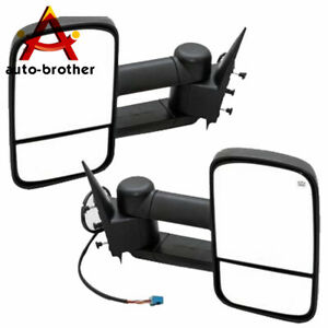 Power Heated Towing Mirrors For Gmc Sierra 2003 06 Chevy Silverado Pickup Truck