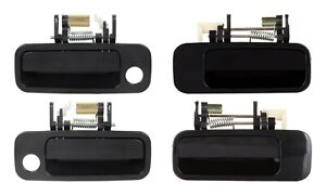 New Front Rear Outside Door Handles Set 4 Black For 1997 2001 Toyota Camry