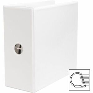 Business Source White 5 3 ring D View Binder School Supply Sparco