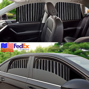 4x Magnetic Rail Car Suv 4 Doors Window Curtain Sun Shade Visor Protect Privacy