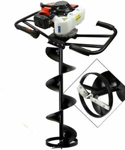 Epa 3hp Two 2 Man 63cc Gas Post Ice Planting Hole Auger Digger Machine 8 Ice