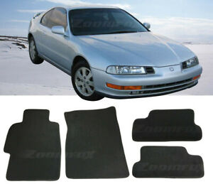 4 Pcs Oe Black Trim Front Rear Nylon Carpets Floor Mats For 96 96 Honda Prelude