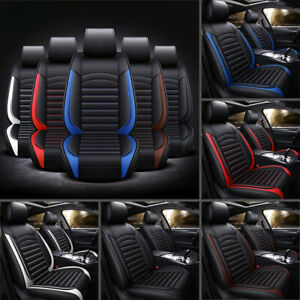 Us Auto Car Suv 5 seat Pu Leather Seat Covers Cushion For Toyota Camry Corolla
