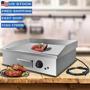 Bbq 21 6 1700w Electric Griddle Flat Top Countertop Commercial Grill restaurant