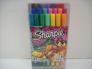 Sharpie Ultra Fine Point 21 Ct Permanent Markers Limited Edition new sealed