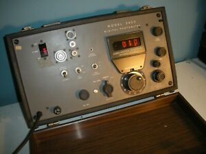 Eg g Gamma Scientific 2400 Photometer With Nixie Tubes Vintage Collectable