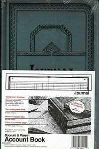 Boorum Pease Record Account Book Journal Rule Blue 150 Pages 12 1 8 X 7 5 8 New