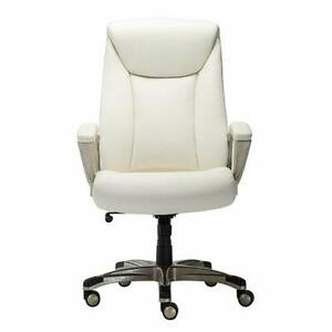 Bonded Leather Big Tall Executive Office Computer Desk Chair 350 pound Capac