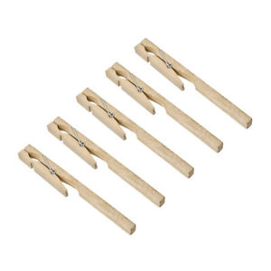 Wooden Test Tube Clip Clamp Holder 180mm Length Lab Equipment Tool 5 Pcs