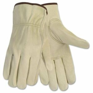 Mcr Safety Durable Cowhide Leather Work Gloves Large Size Cowhide Leather