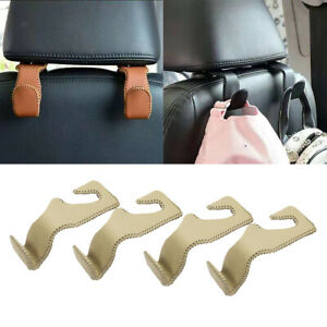 4x Auto Car Seat Coat Hooks Purse Shopping Bag Hanger Truck Organizer Holder