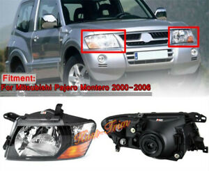 1pair Front Head Lamps Lights For Mitsubishi Montero Pajero 2000 2004 2005 2006
