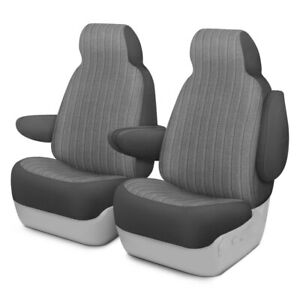 For Chevy Impala 00 05 Duramax Tweed 1st Row Gray Custom Seat Covers