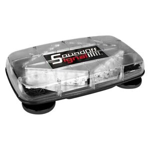 Soundoff Signal Magnetic Mount Pinnacle Mini Amber Emergency Led Light Bar