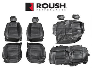 2012 2014 Mustang Convertible Roush Rs1 Rs2 Rs3 Front Rear Seat Upholstery Black