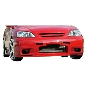 For Honda Civic 2001 2003 Kbd Sl Spec Style Front Bumper Lip Unpainted