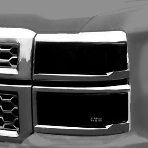 For Chevy Silverado 2500 Hd 2001 2002 Gts Gt0540s Smoke Headlight Covers