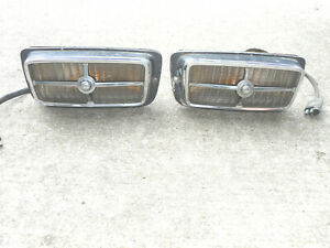 Original Pair Of 1970 Ford Mustang Mach 1 Grille Sport Lamp Lights Lyt1