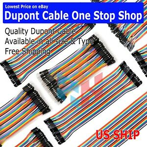 Dupont Cable Jumper Wire 10 20 30 40 Cm F m F f M m For Breadboard Arduino Usa