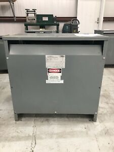 Square D Dry Type Transformer 75 Kva 480 Delta Primary 208y 120 Secondary