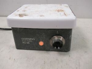Corning Pc 35 Lab Hot Plate Porcelain Top Variable Temperature Laboratory Heater