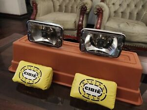 Pair Vtg Cibie Iodo Rally Fog Light Bumper 70s 80s Driving Lamps And Covers