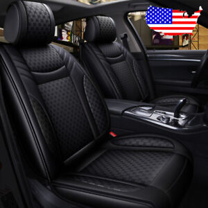 Car Suv Pu Leather Flax Seat Covers Cushion For Vw Golf Jetta Passat