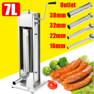 7l Meat Sausage Filler Stainless Steel Stuffer Maker Vertical Machine Commercial