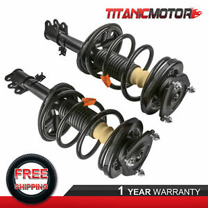 Pair Of 2 Front Complete Shocks Absorbers Struts For Toyota Rav4 Awd 2000 2005