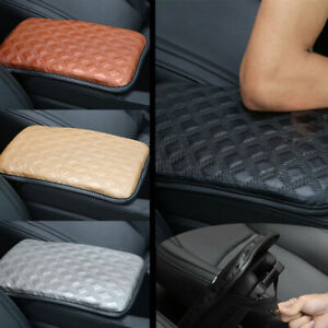 Universal Car Leather Armrest Cushion Pad Center Console Box Protect Cover