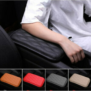 Universal Car Leather Armrest Cushion Pad Center Console Box Protect Trim Cover