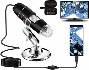 Bysameyee Usb Digital Microscope 40x To 1000x 8 Led Magnification Endoscope New